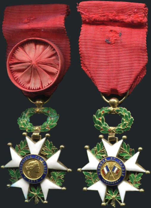 French Legion of Honor - Republic -  Both Sides