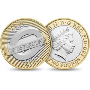 2013 London Underground Roundel 2 Pounds