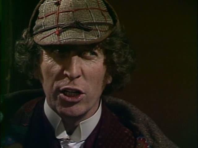 Tom Baker as Dr. Who as Sherlock
