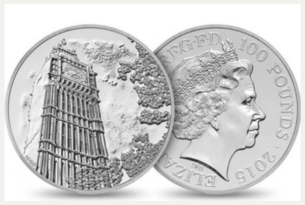 2015 100 Pound coin