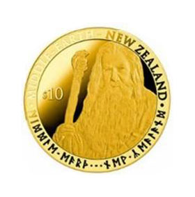 2012 NZ Gandalf $10 Gold