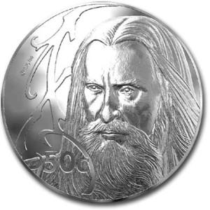 Christopher Lee Saruman 50c coin
