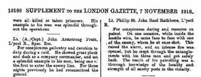 November 7, 1918 - London Gazette