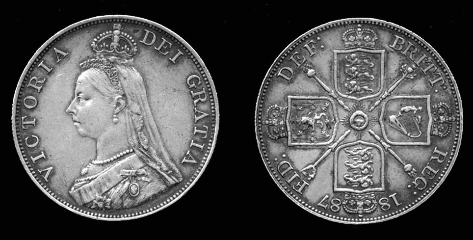 1887 British Double Florin