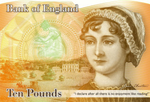 Jane Austen 10 banknote ~ coming in 2017