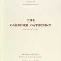 Menu Card of the 1961 SHSL Garrideb Gathering