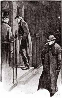 Good night, Mr Sherlock Holmes. - Illustration by Sidney Paget in The Strand Magazine, July 1891