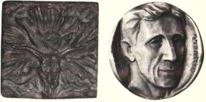 Artist Alex Shagin's comprehensive body of work includes medals honoring Georgia O'Keeffe and George Orwell.