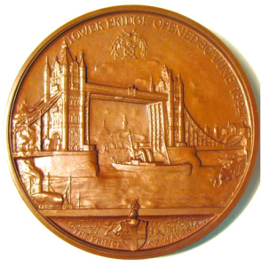 Tower Bridge Opening Medal REV
