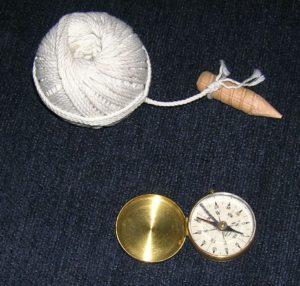 Ball String w-woodenPeg& Compass