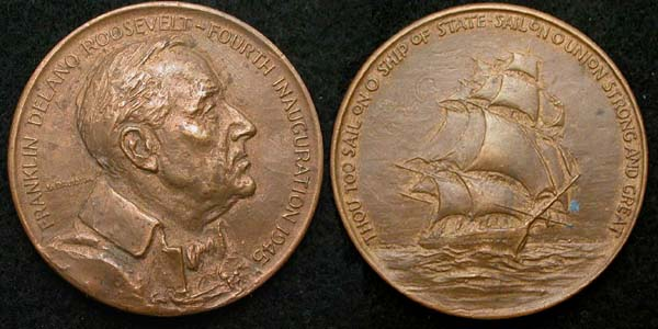 1945 FDR Inaugural Medal