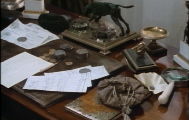 Ronald Adair's desk - Granada's The Empty House