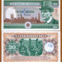 Jeremy Brett Featured on Fantasy £20 Banknote