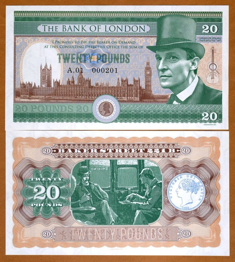 2016 Bank of London 20 Pound Note