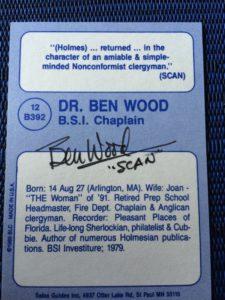 Dr. Benton Wood 1993 Card REV