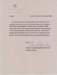Vatican Letter