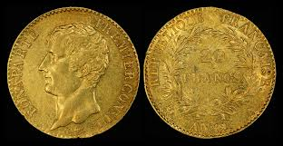 1803 French gold 20 Francs coin of Napoleon