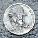A 1937 Sherlockian Hobo Nickel by Gediminas Palsis