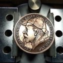 Javier Barahona Alvarez's Holmes Portrait Engraving on a 1921 British Penny